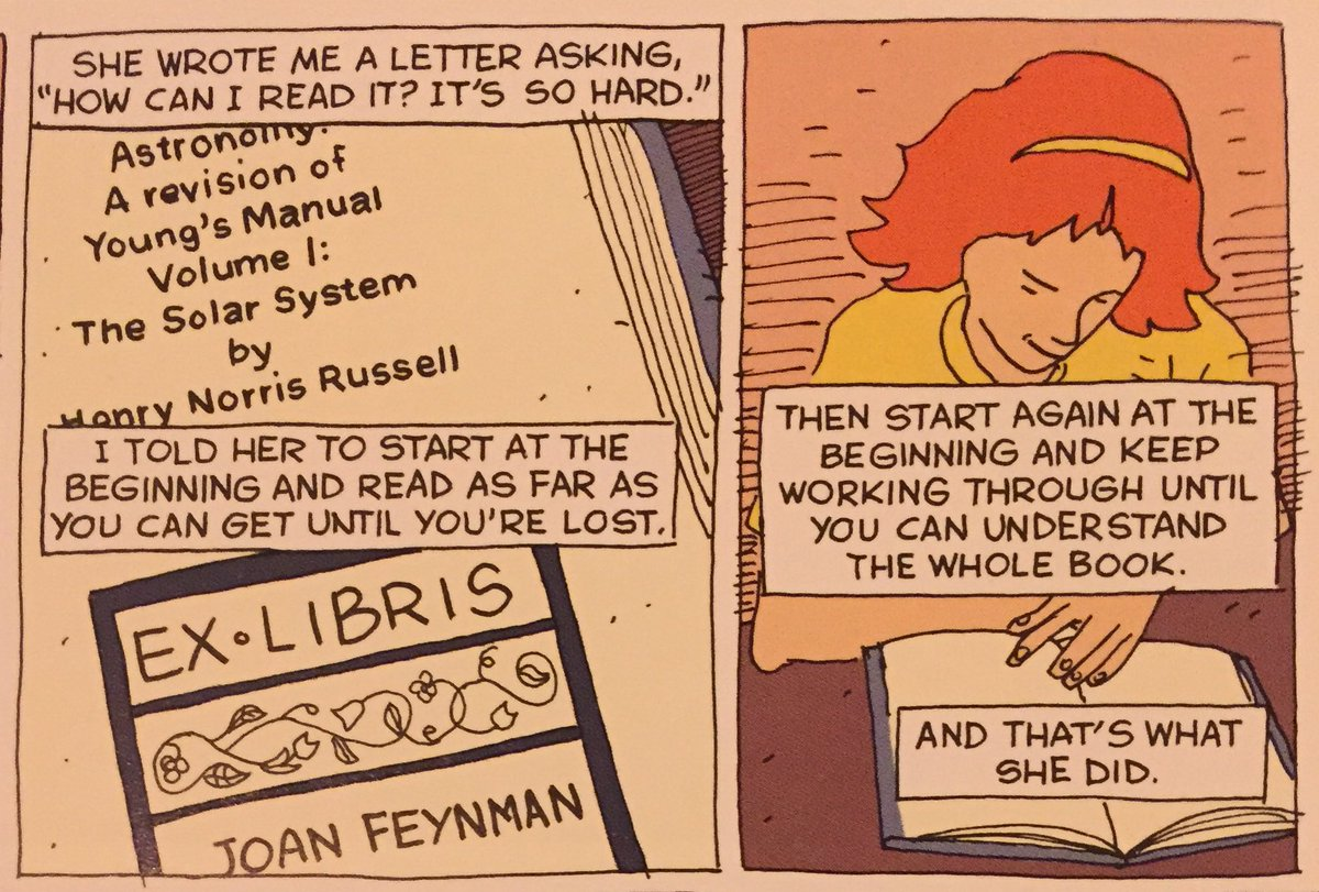 Feynman's advice to his sister on learning science. https://t.co/zs1MrCYNuG