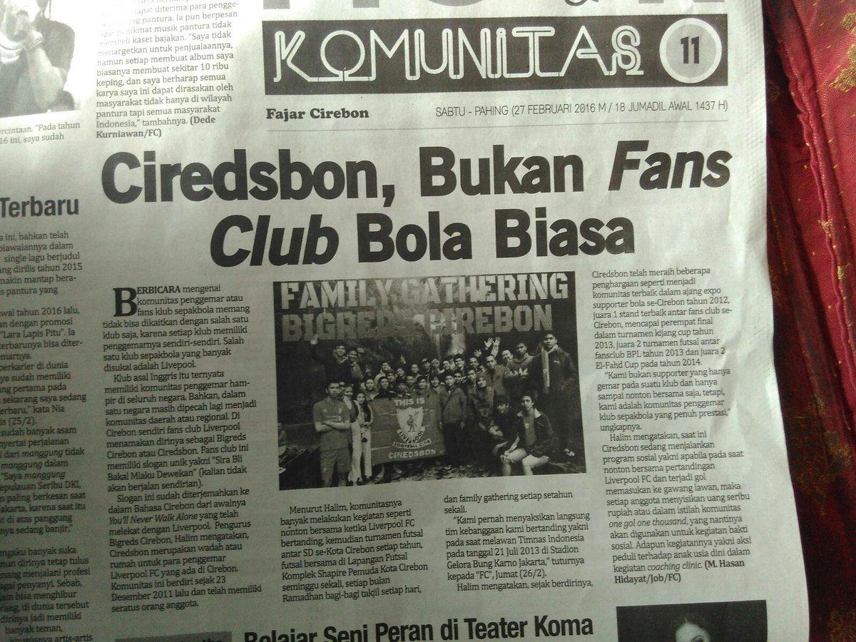 Belilah Koran Fajar Cirebon edisi hari ini. Cc @BIGREDS_CRB https://t.co/WyCsuFa5yC