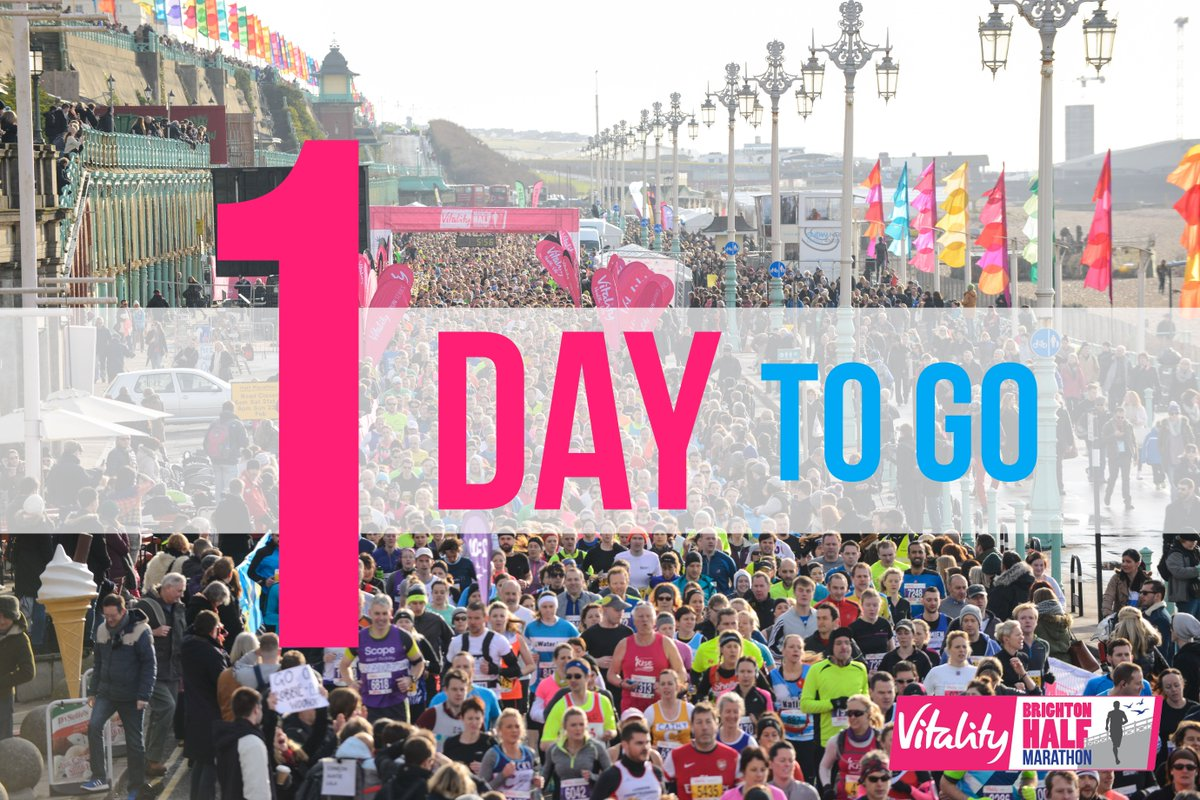 In case you didn't know... See you TOMORROW - hooray! #BrightonHalf #Brighton https://t.co/ltGeTU3ECH