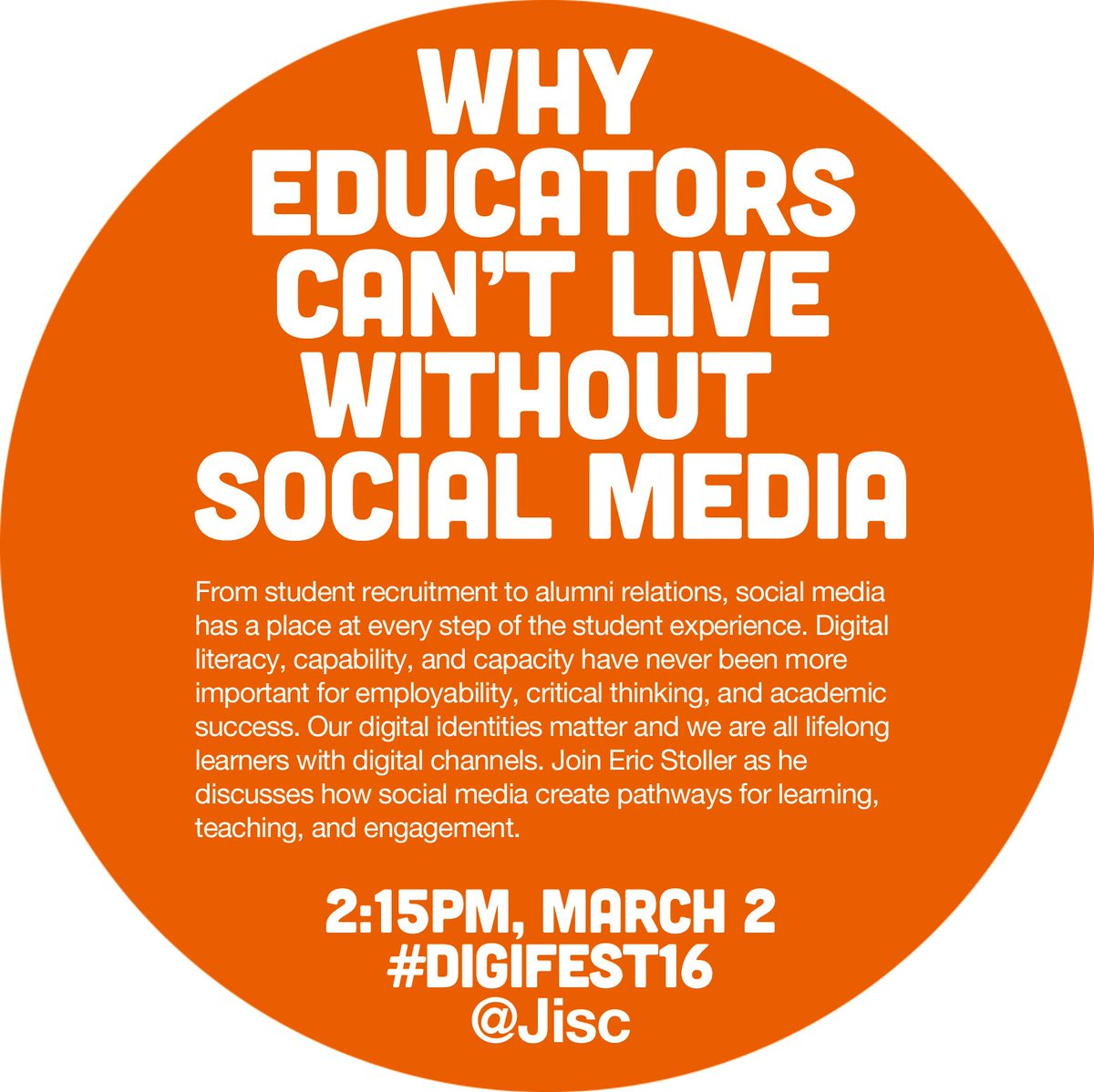 Why Educators Can't Live Without Social Media - next week at @Jisc #digifest16 https://t.co/6bWGdHU1qU https://t.co/xTWVh9arNR
