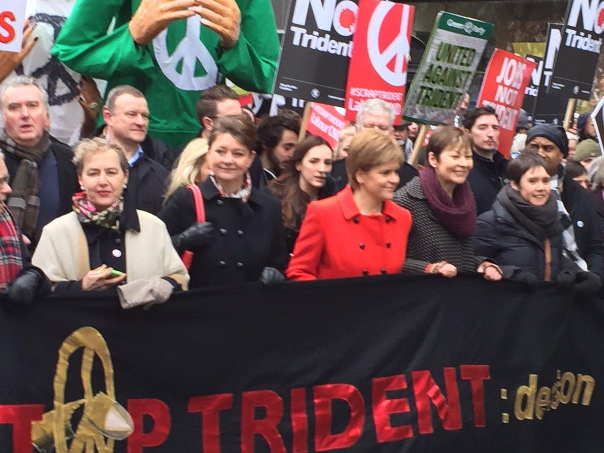 Proud to be part of #StopTrident March led by @CarolineLucas & @NicolaSturgeon https://t.co/Hur82FswSI