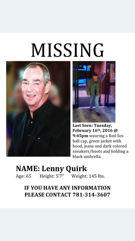 MISSING PERSON, please share @BostonGlobe @BostonDotCom @cbsboston.  Need help finding him. https://t.co/QML321YXhl https://t.co/zGvh9TjLi4
