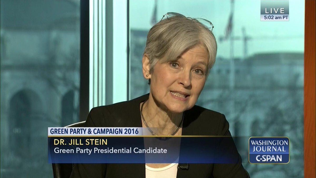 ICYMI: @DrJillStein, Presidential Candidate, on the #GreenParty platform https://t.co/7vAAwLHEGA https://t.co/7HEz2BsjT8