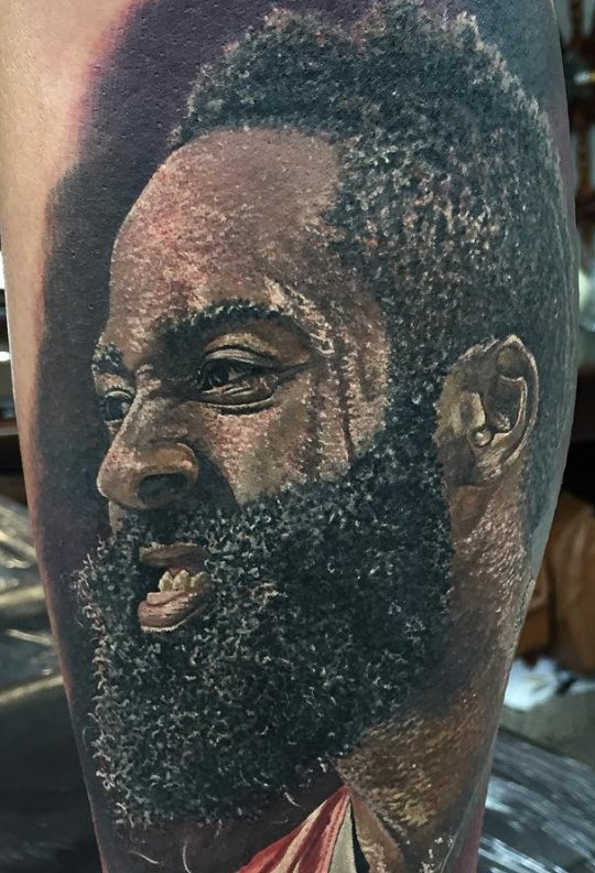 James harden fan goes all out with tattoo for James harden tattoo