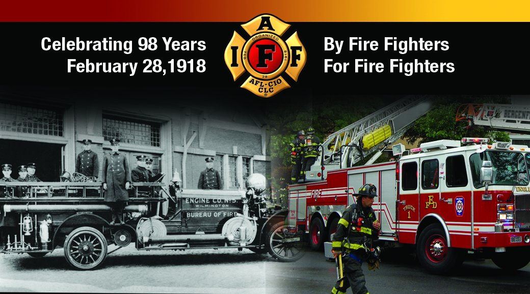On February 28, 1918, thirty six delegates gathered to form the #IAFF #IAFFAnniversary https://t.co/XaGQDiPv0z