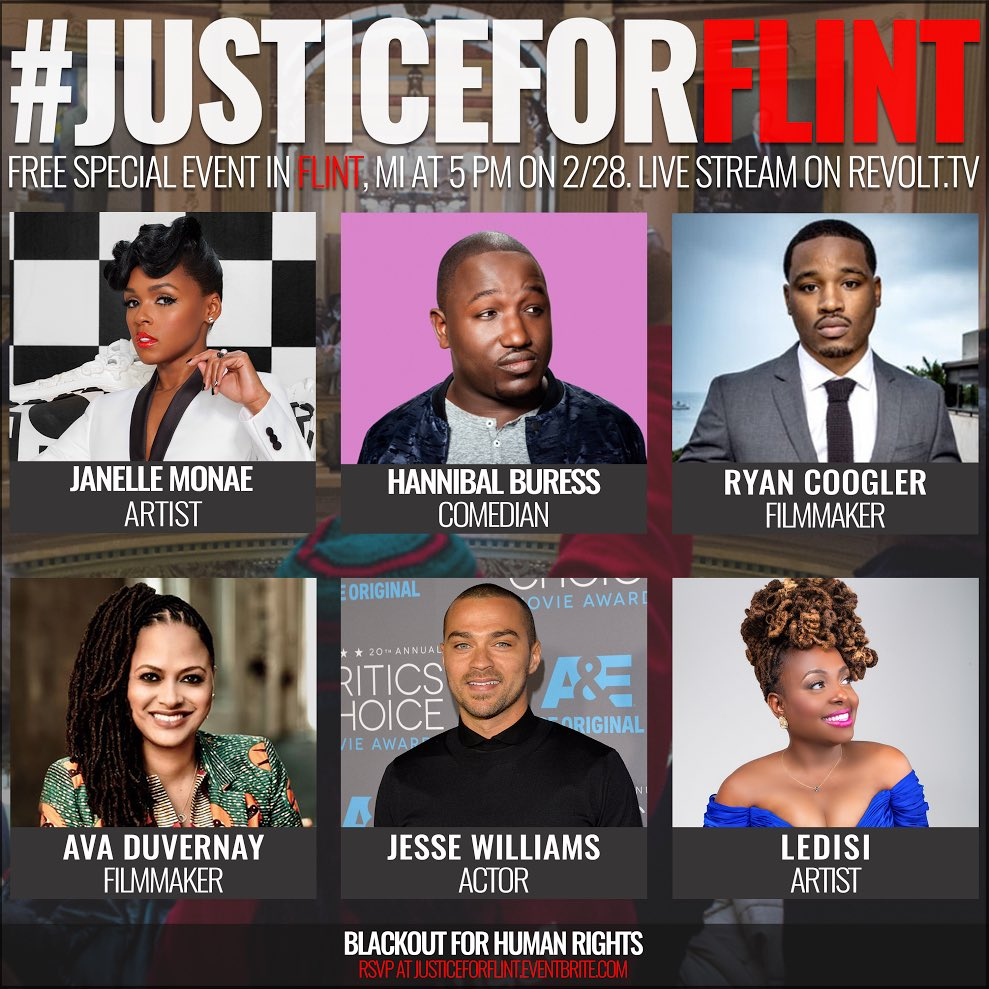 There's the #Oscars, and then there's this event that matters: #JusticeForFlint https://t.co/Zim9Qy1kKG stream 5p ET https://t.co/NOJdHHC369