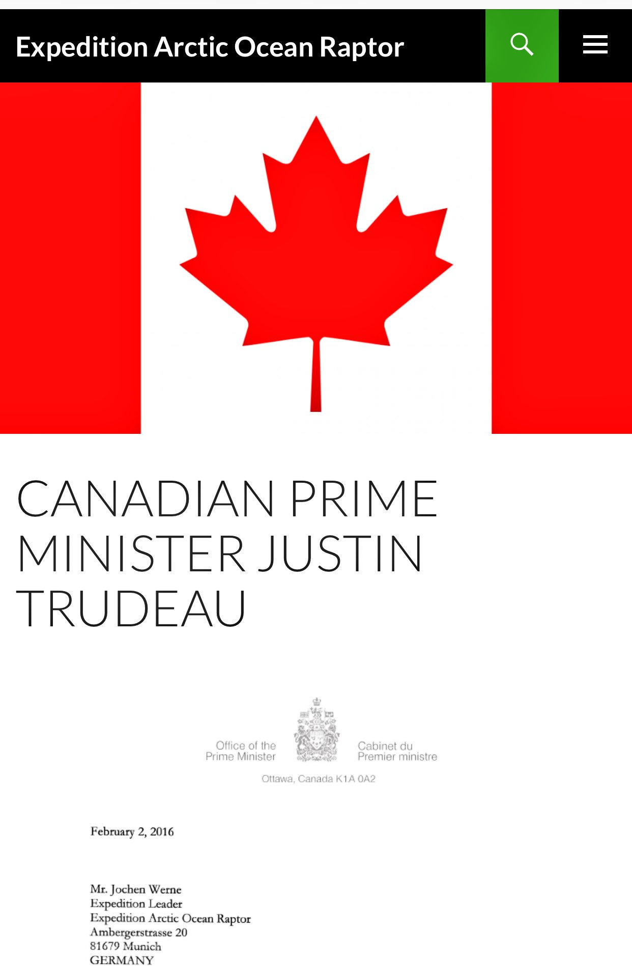We are grateful for the wishes & support received from the Office of the Prime Minister of #Canada @JustinTrudeau https://t.co/YjXuBpjgTH