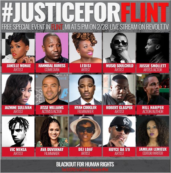 While some seek Justice in Hollywood today, Coogler, @AVAETC & others seek #JusticeForFlint. Follow @UnitedBlackout https://t.co/tgeZXRSskm