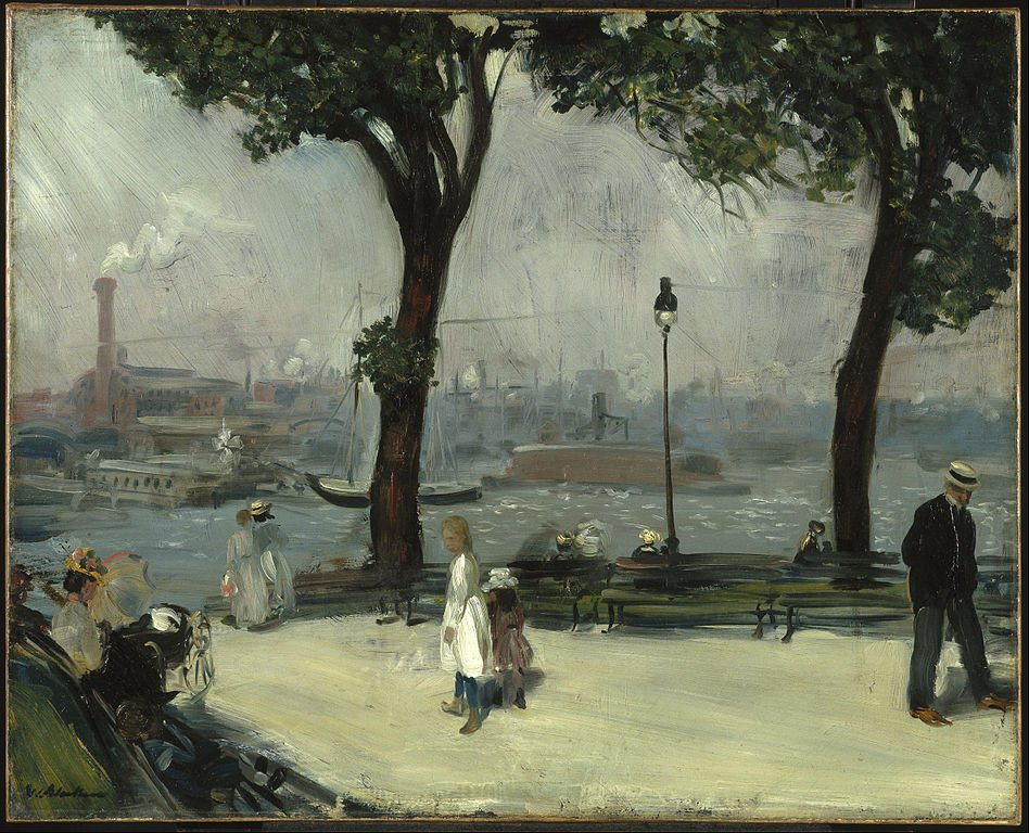 East River Park, New York City by William James Glackens c. 1902 (@brooklynmuseum). https://t.co/DxX3cA7ML7