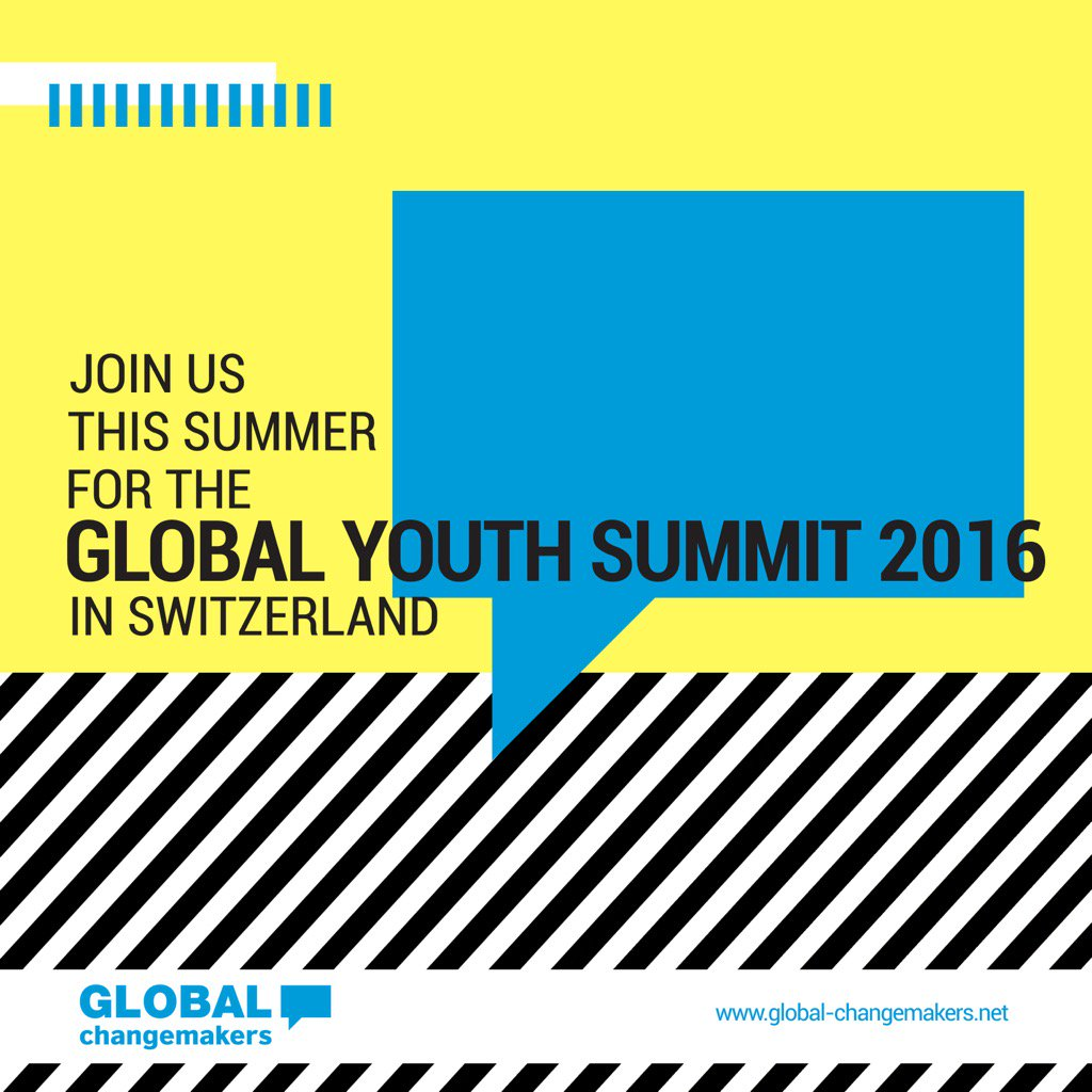 Applications to attend Global Youth Summit 2016 are now open. More info: https://t.co/tAfLYSVTRW. https://t.co/kN0VprHYTb