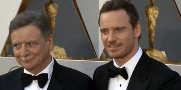 Michael Fassbender with his Father Josef Red Carpet #TheOscars2016 #TheOscars https://t.co/mNapAlHVPP