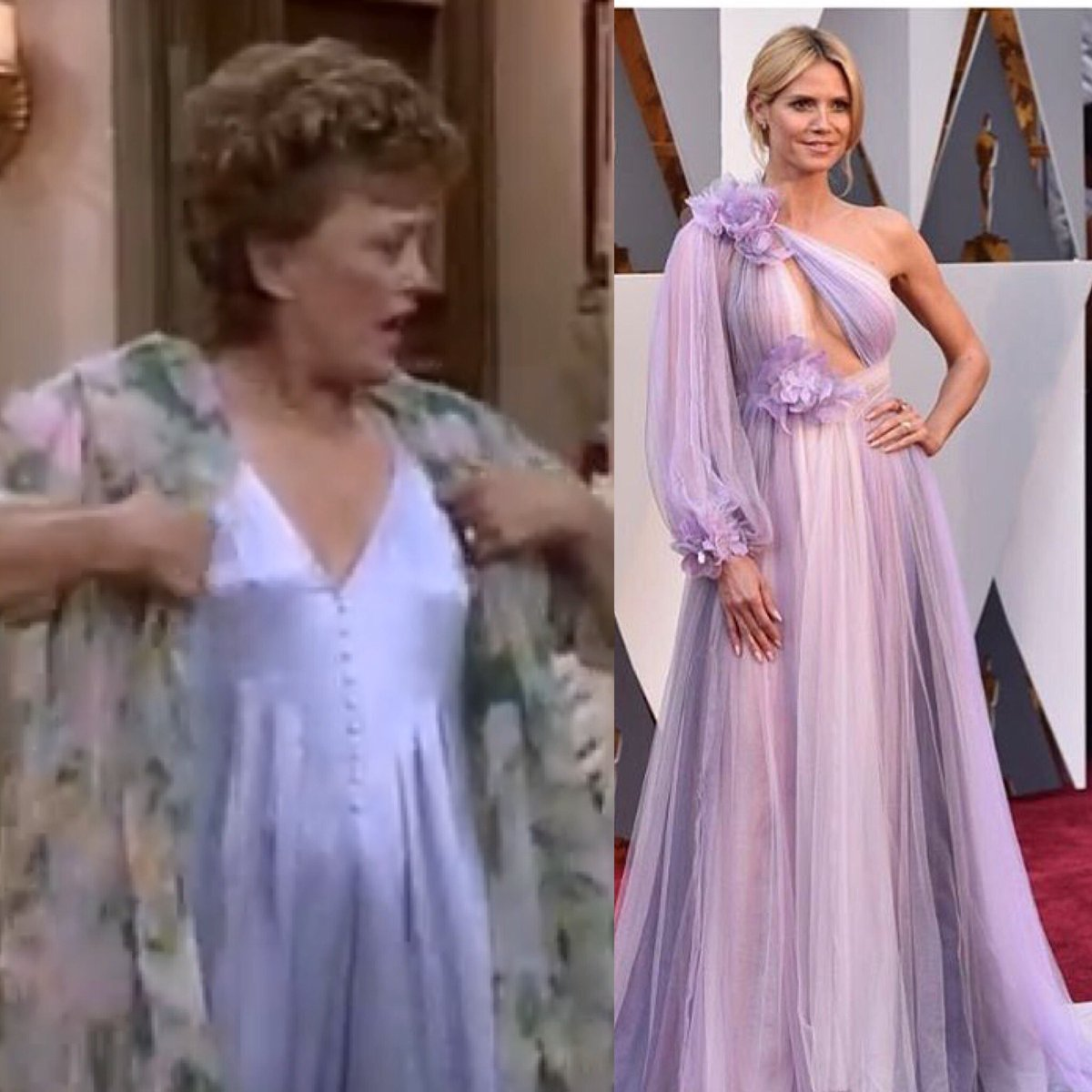 I think @heidiklum looks amazing in that Blanche Devereaux gown from the Golden Girls Collection #Oscars2016 https://t.co/1GxhBSq9M6