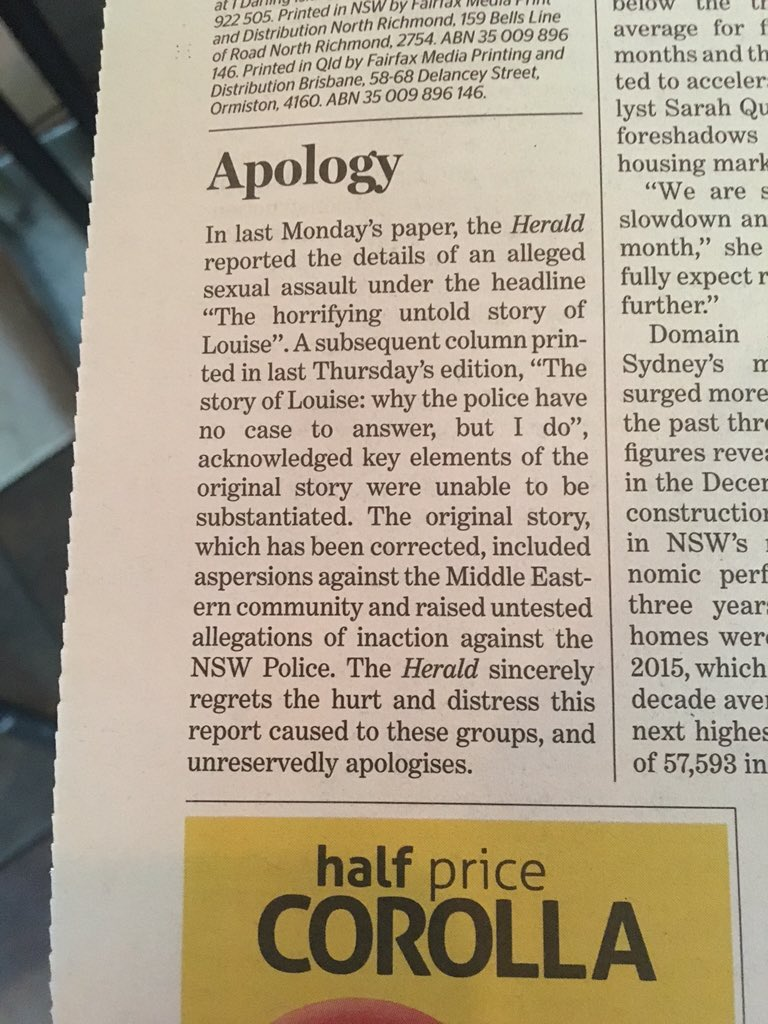 The @smh is so sorry it forgot to name the reporter. Let us help.  #Sheehan https://t.co/glu68od9S5