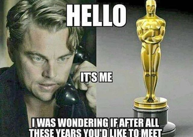 Team Leo. #Oscars https://t.co/obKDG08yAL