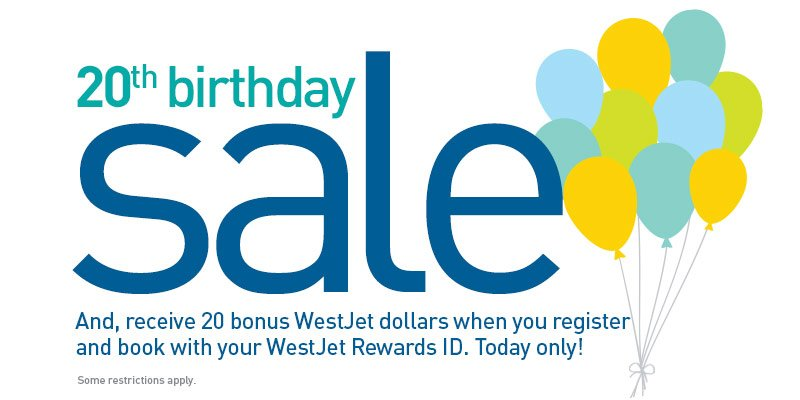 20th birthday sale Save on select flights & vacations. Book by 3/7/16 (23:59 MT).
