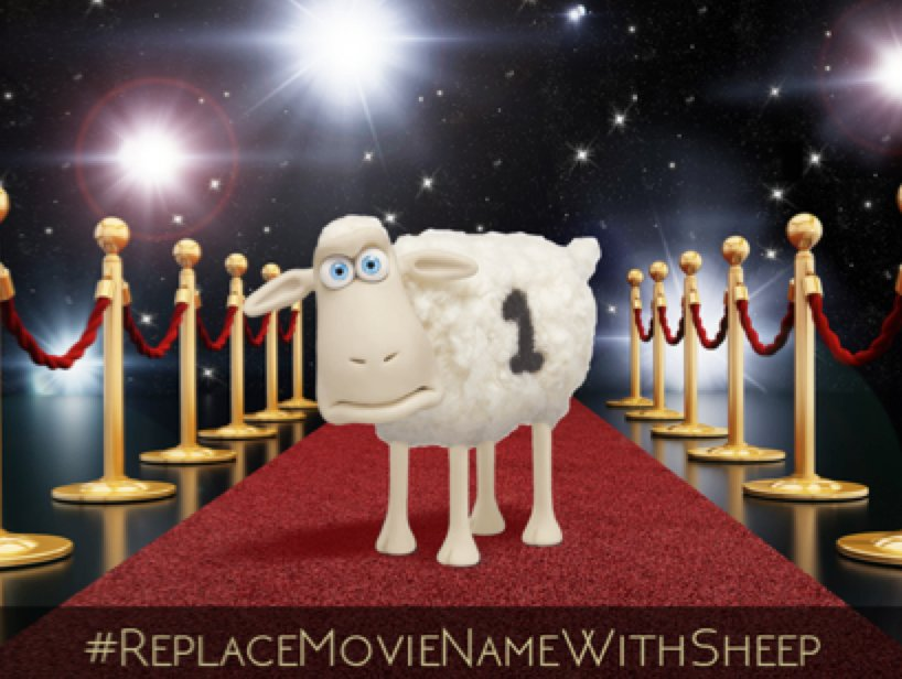 Enter our #Sweepstakes when you #ReplaceMovieNameWithSheep! 100 Chances to win! https://t.co/pN4Xcn0KNm https://t.co/5AIEPbomVn