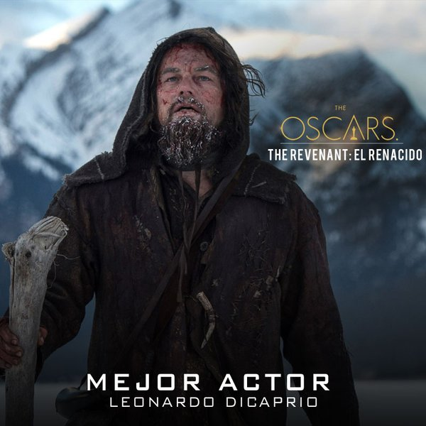 ¡Felicidades a @LeoDiCaprio por su merecido #Oscars como Mejor actor!
