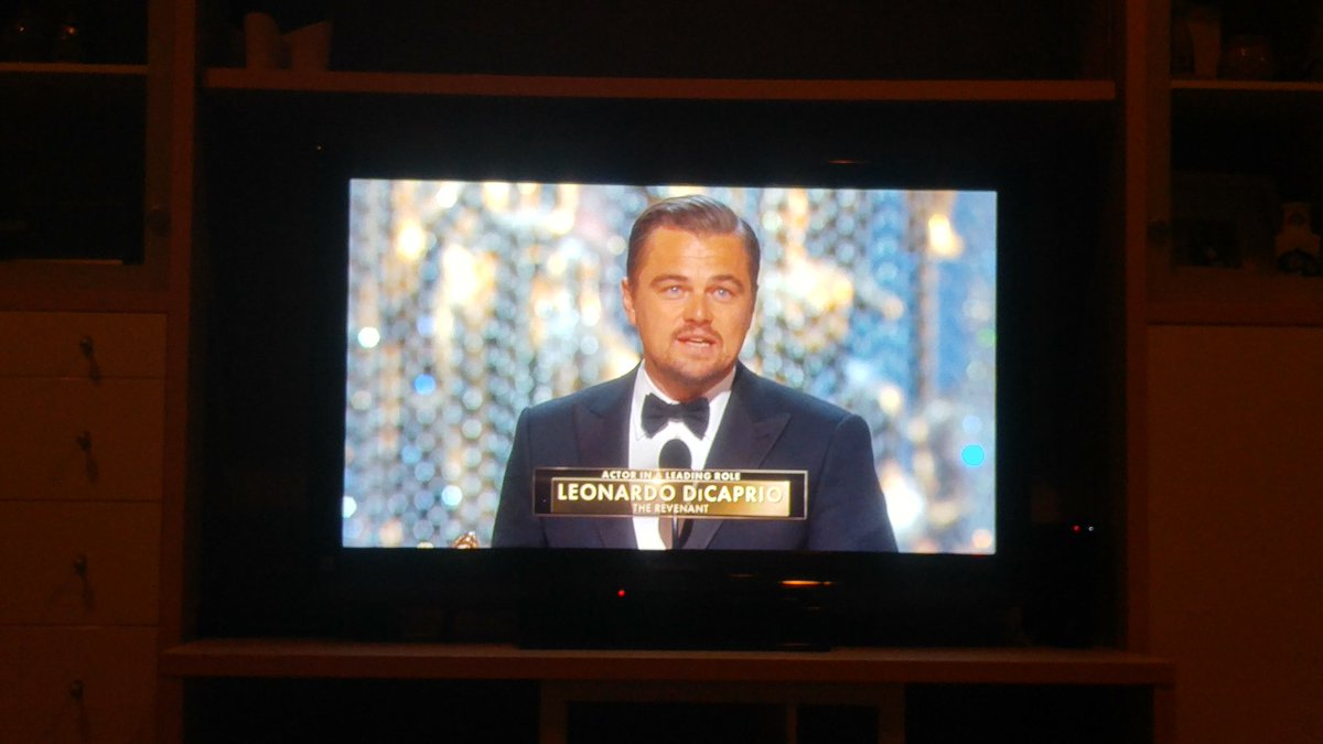 """Climate change is real. It is the most important threat facing our species."" Leo #Oscars https://t.co/z8Nd3XfZWJ"