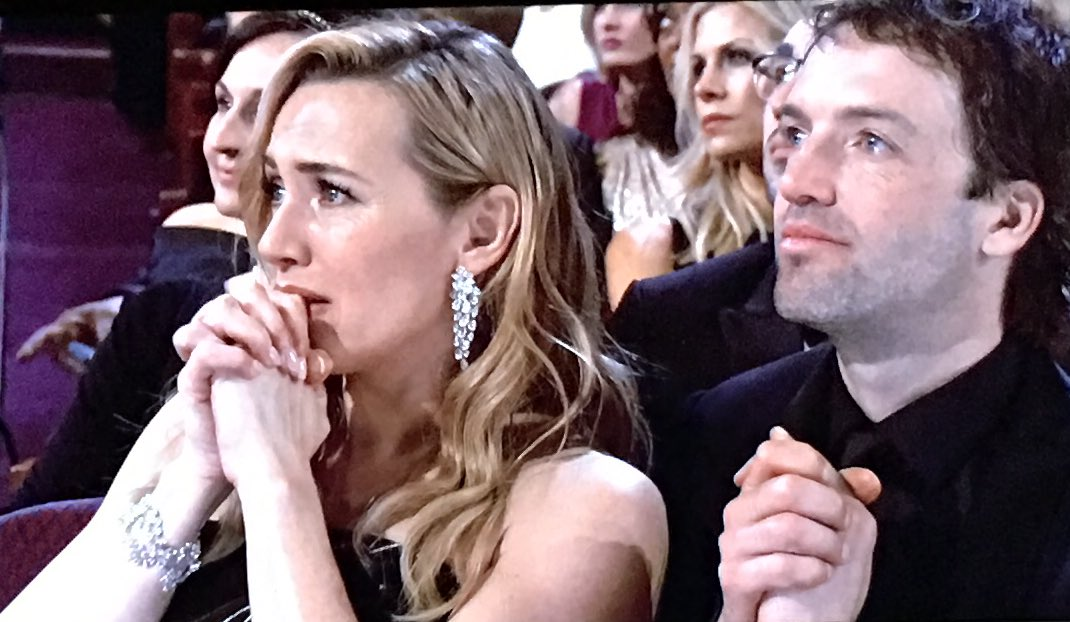 Leo DiCaprio's biggest fan, Kate Winslet, looks quite moved by Leo's win and his speech. #Oscars https://t.co/oyxGhYt0vH