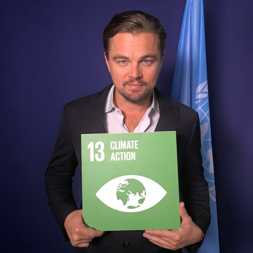 Congrats to @UN Messenger of Peace @LeoDiCaprio for his #Oscars win & speaking about climate action. #GlobalGoals https://t.co/bImfgw278G