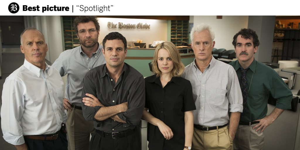 A win for @Spotlightmovie, and for every journalist in the tireless pursuit of the truth. https://t.co/DpXR9N80jS