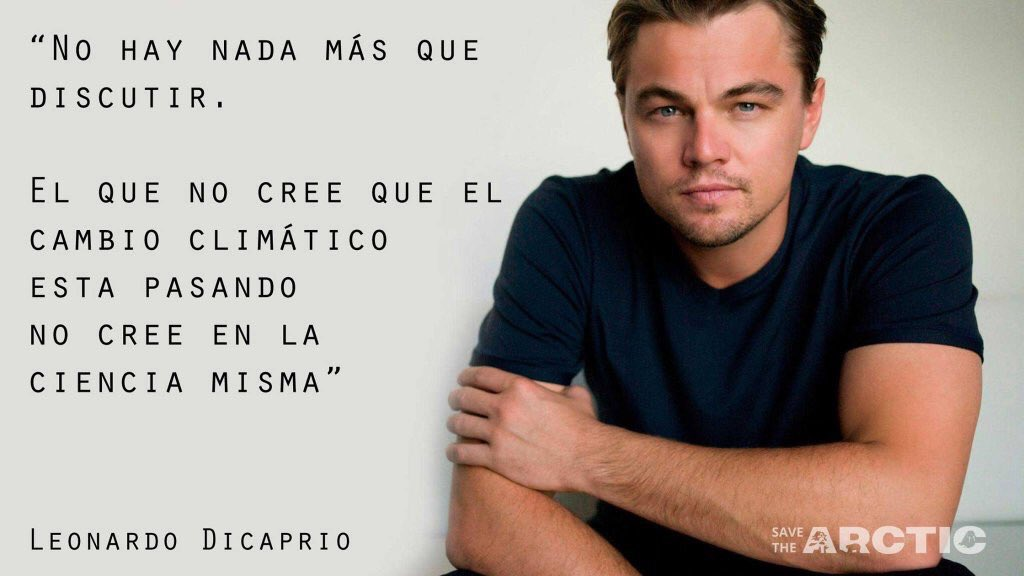 """""""El #CambioClimático es real y está pasando ahora"""". Leonardo di Caprio hace instantes en los #Oscars. Aplausos! https://t.co/vJgzhApJOJ"""