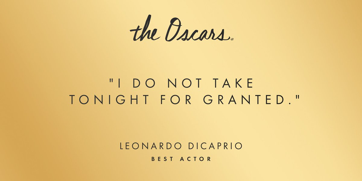 Well said, @LeoDiCaprio. https://t.co/Fibksgu8ea