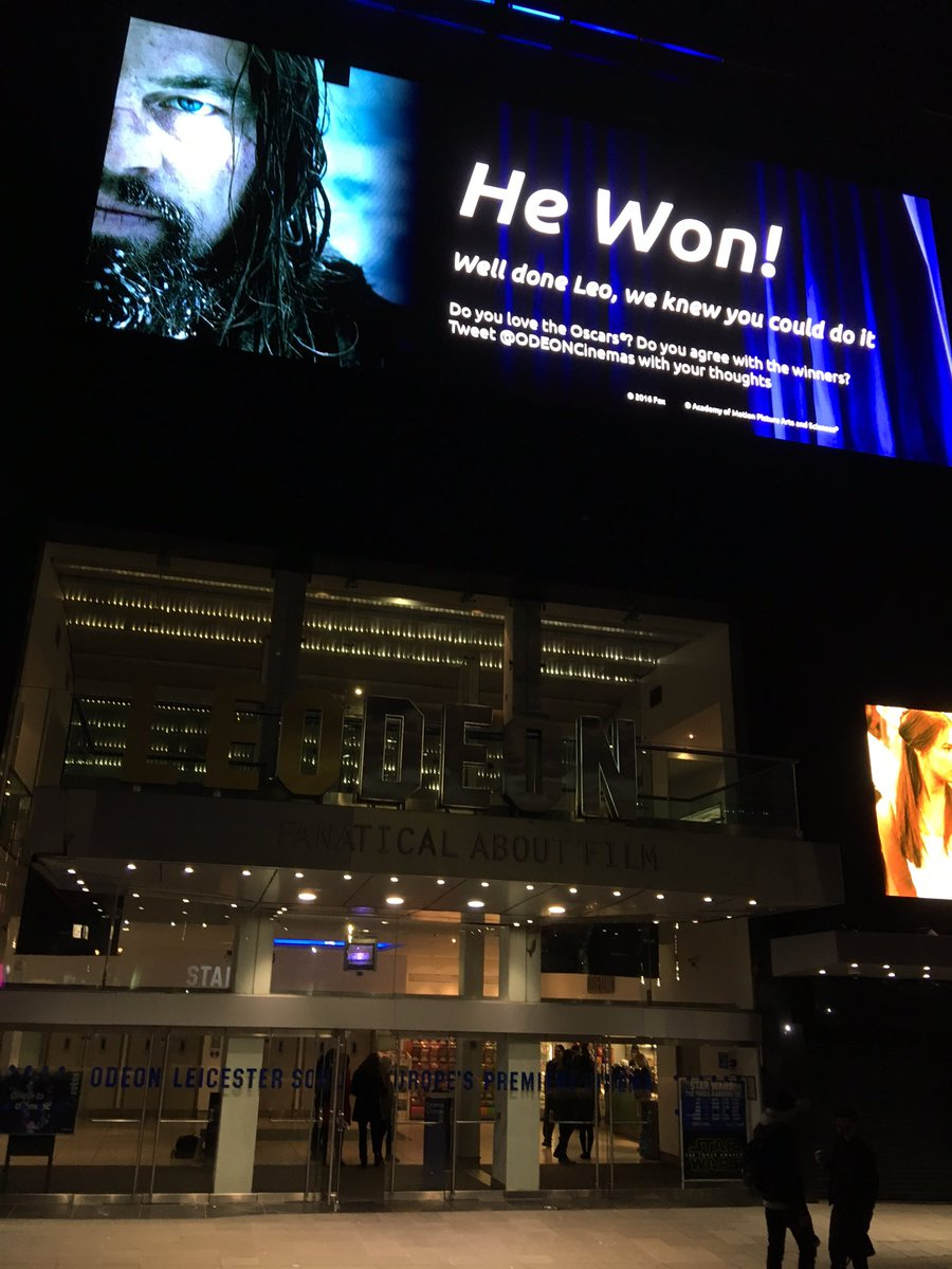Special message of congratulations to #LeonardoDiCaprio - from Leicester Sq, London @GMB https://t.co/hJ84V7X6qP