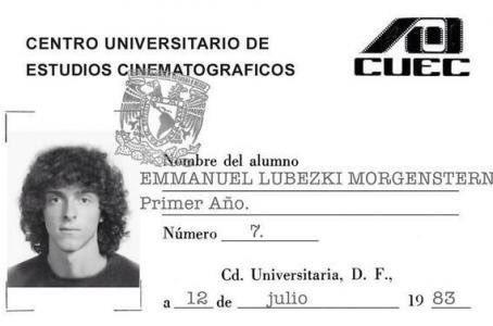 Aquí la credencial de #ElChivoLubezki cuando era estudiante del #CUEC en 1983; hoy se ganó su tercer #Oscars