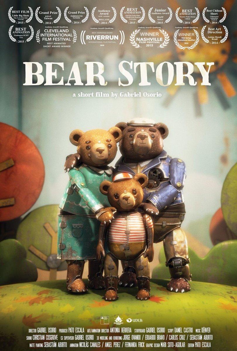 #Oscars | ¡¡Bear Story de CHILE se queda con el premio al Mejor Corto Animado!! https://t.co/1L61LWC1HH