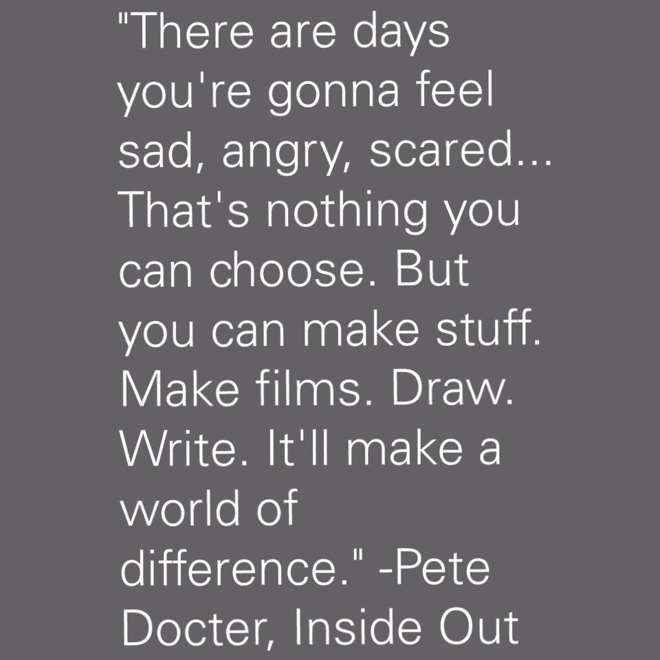 This quote is so important. Thank you for speaking to my students who need light. #petedocter #Oscars https://t.co/dPvtlD48a7