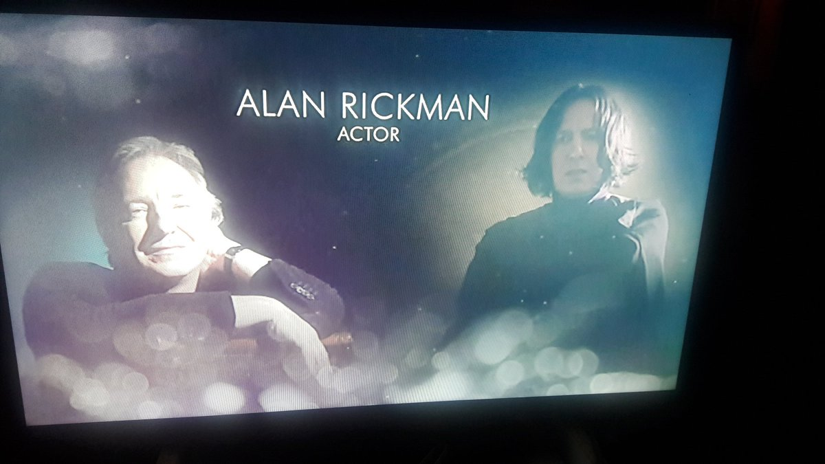 Homenaje a Alan Rickman en los #Oscars . Lloro. https://t.co/i5W1oAthhE