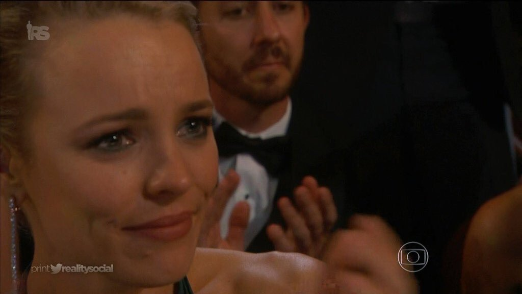 Rachel McAdams and Kate Winslet crying after Lady Gaga's performance. #Oscars https://t.co/DdX0fOunaJ