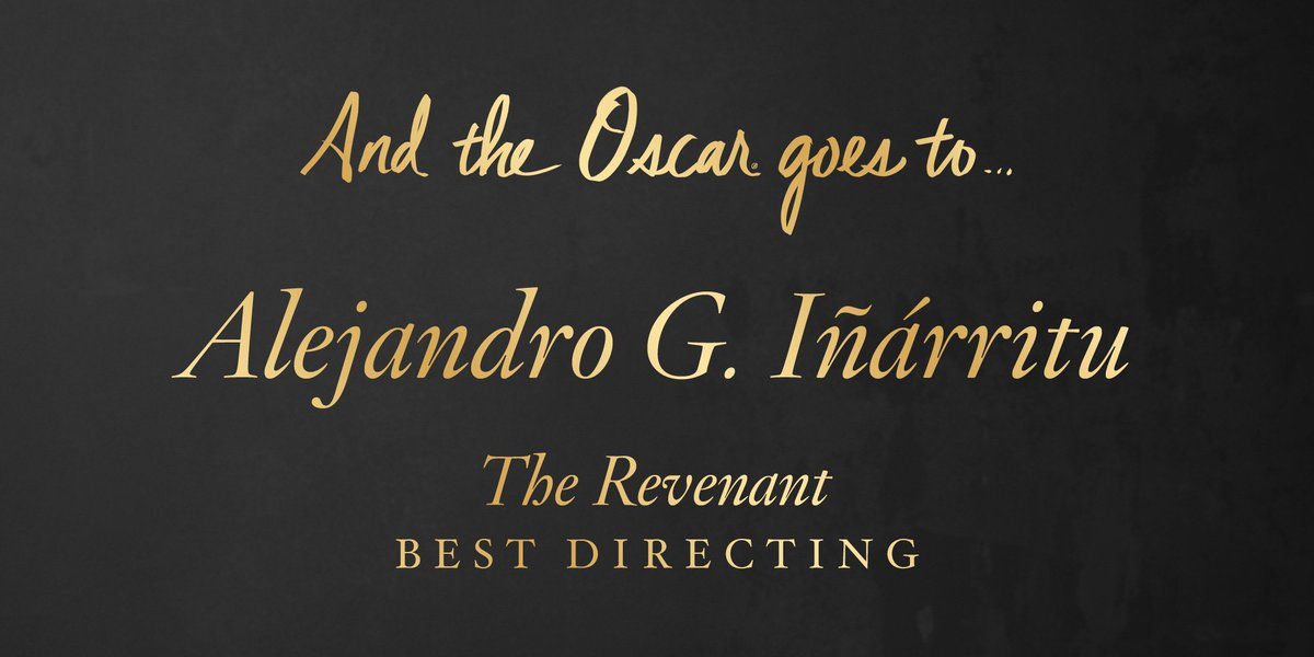 The #Oscar for Directing goes to… https://t.co/4wgb9luzdZ
