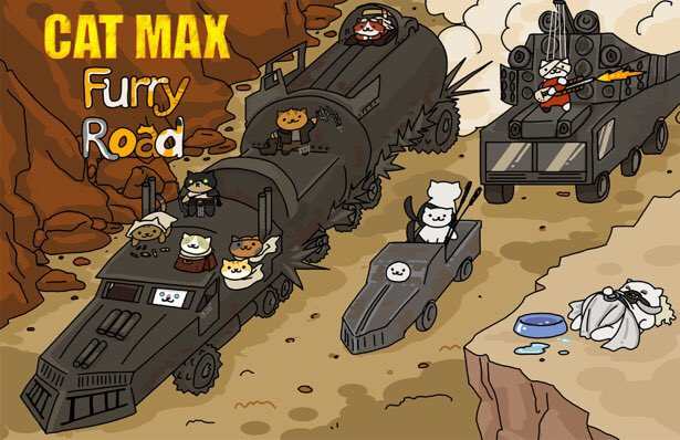 Never forget #MadMax FURRY ROAD should win everything. Because cats. https://t.co/6aWbZyHP3d #Oscars #NekoAtsume https://t.co/8KEoMeQzrI