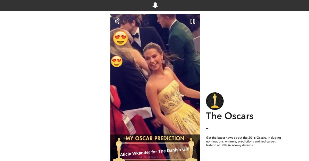Wow, @Snapchat uses the #Oscars to debut their stories web player - big deal - check out https://t.co/ROsQ3xmYkJ https://t.co/W9yZjJ8SaE