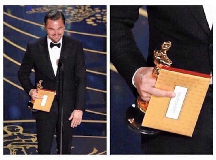 "Hahaha he said ""Fck you Oscars for taking this long!"" #LeonardoDiCaprio #Oscars2016 #OscarForLeo https://t.co/9MRgqojm2Q"