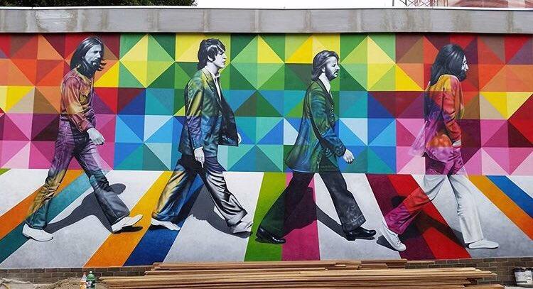 The beatles street art kobra for Abbey road mural