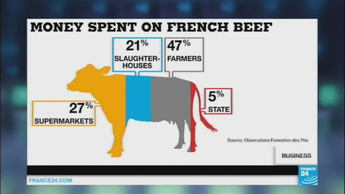 VIDEO -  French farmers protest over low prices at Agriculture show