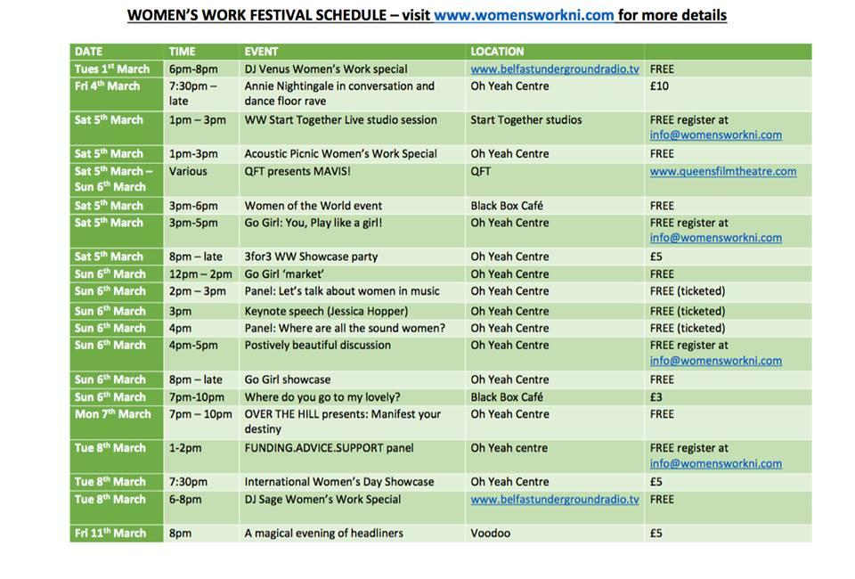 Schedule for @_WomensWork this weekend! https://t.co/Qul7vINdzz