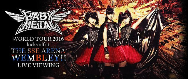 BABYMETAL、ウェンブリー公演を5都市のZeppでLV中継 https://t.co/Fc4VrxvxVA #BABYMETAL https://t.co/...