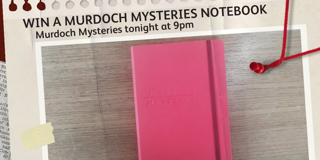 Win 1 of 4 #MurdochMysteries notebooks! RT & follow us before 10pm 29/02 to enter. T&Cs https://t.co/GVSdtCeOjG https://t.co/33kxnuUgHN