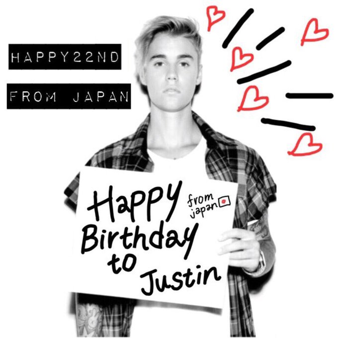 1994.3.1 >>> 2016.3.1 22th  Justin Bieber  Happy Birthday  I love you very much