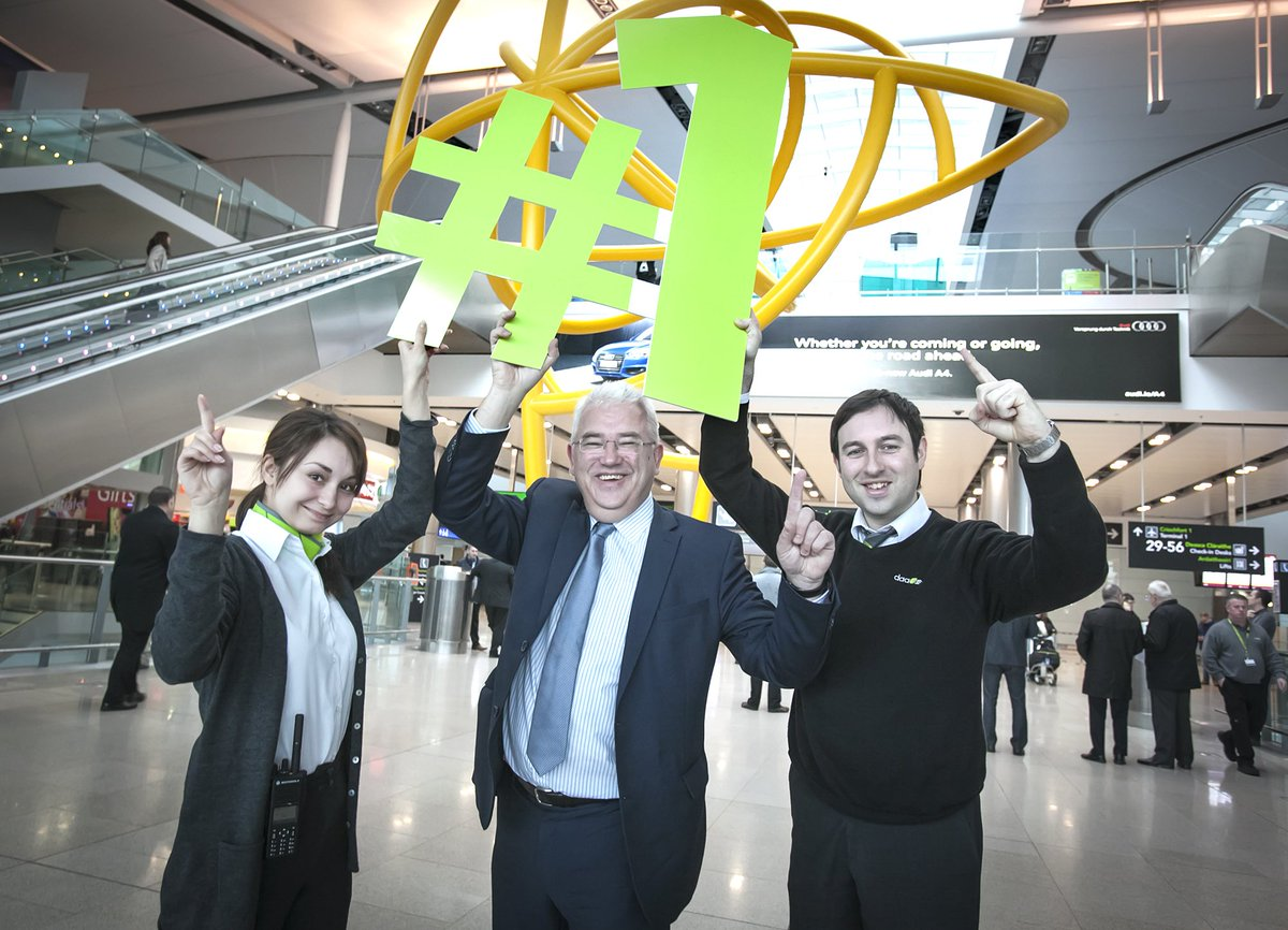 .@DublinAirport rated 1 ahead of 14 European airports for passenger service by @ACIWorld