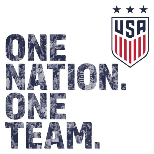 Oh hey, @ussoccer_wnt! Nice to finally see that new crest I've been hearing about!!