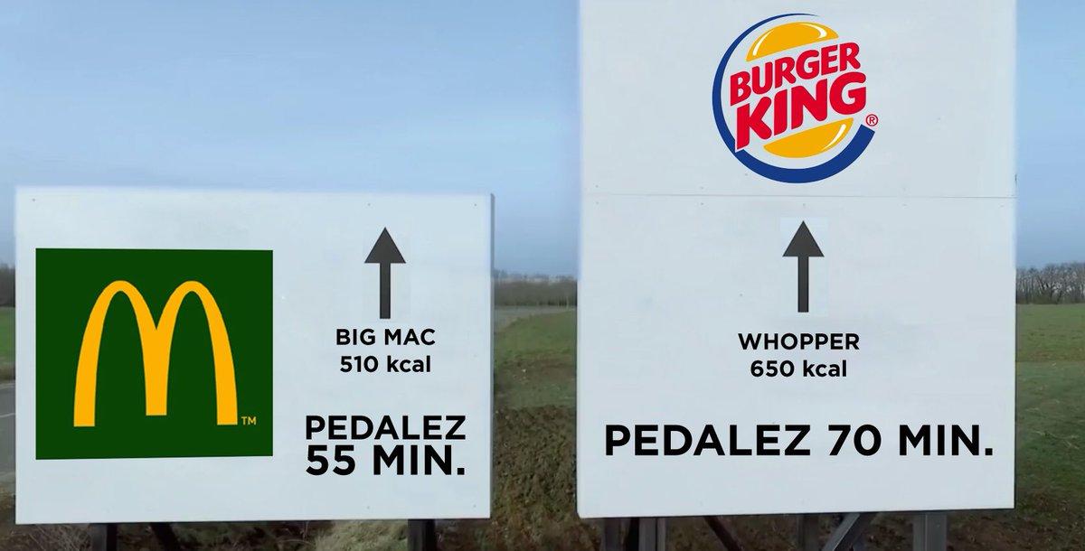 Big Mac ou Whopper, peu importe, il faudra pédaler pour éliminer !