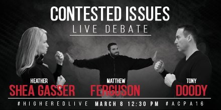 Excited to announce that @RUferg will be emcee for the #HigherEdLive Contested Issues Debate at #ACPA16 #sachat