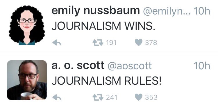 Back to back tweets on my feed: @emilynussbaum + @aoscott #oscars https://t.co/5KQdJjkhPc