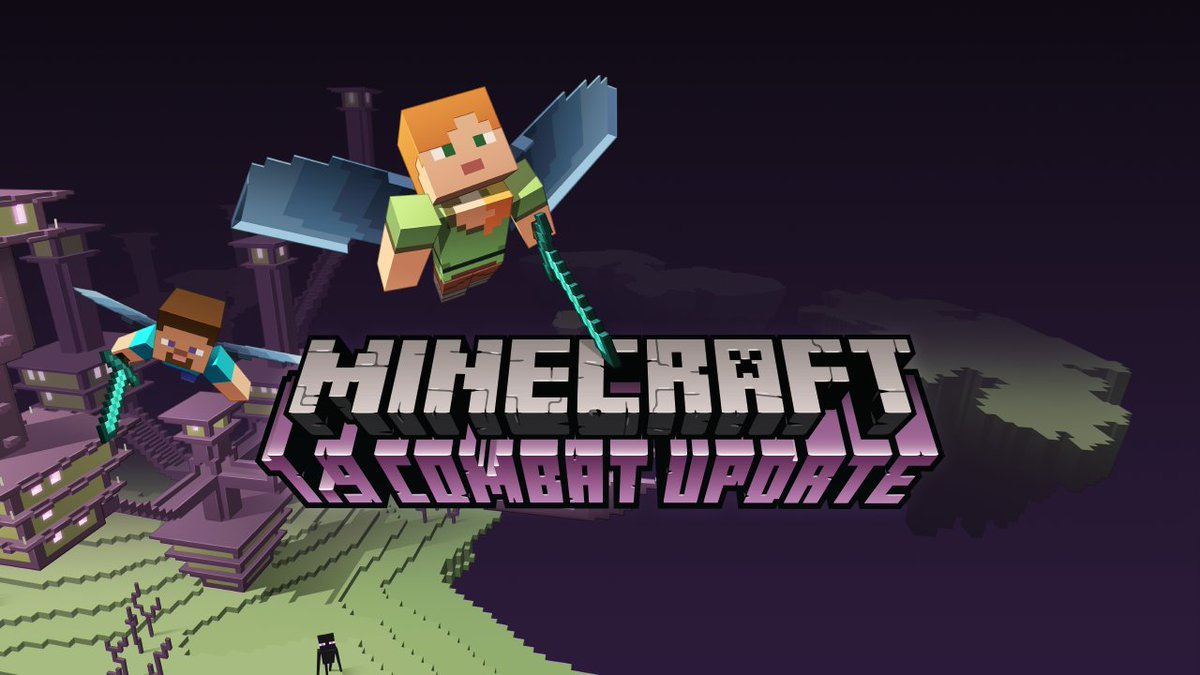 Minecraft 1.9 Combat Update is out! Artwork by Mojang n00b @NinniLandin  https://t.co/tHolAICY2g https://t.co/I8Tak82KGC