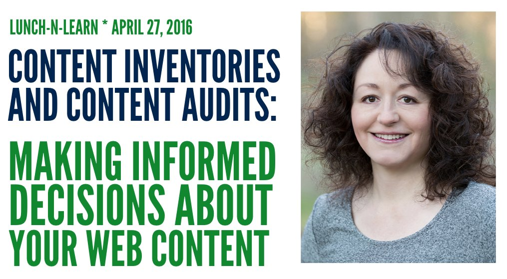 [April 27] Content Inventories and Audits: Making Informed Decisions About Your Web Content https://t.co/YF57CB8CIx https://t.co/Zuc9g9x4od
